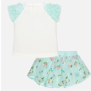 Baby girl skirt and top set