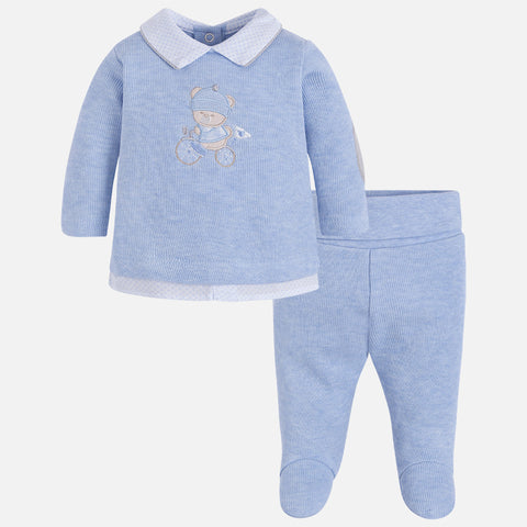 Baby Boy set of footed trousers and jumper