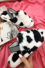 Cow print Faux Fur Slippers