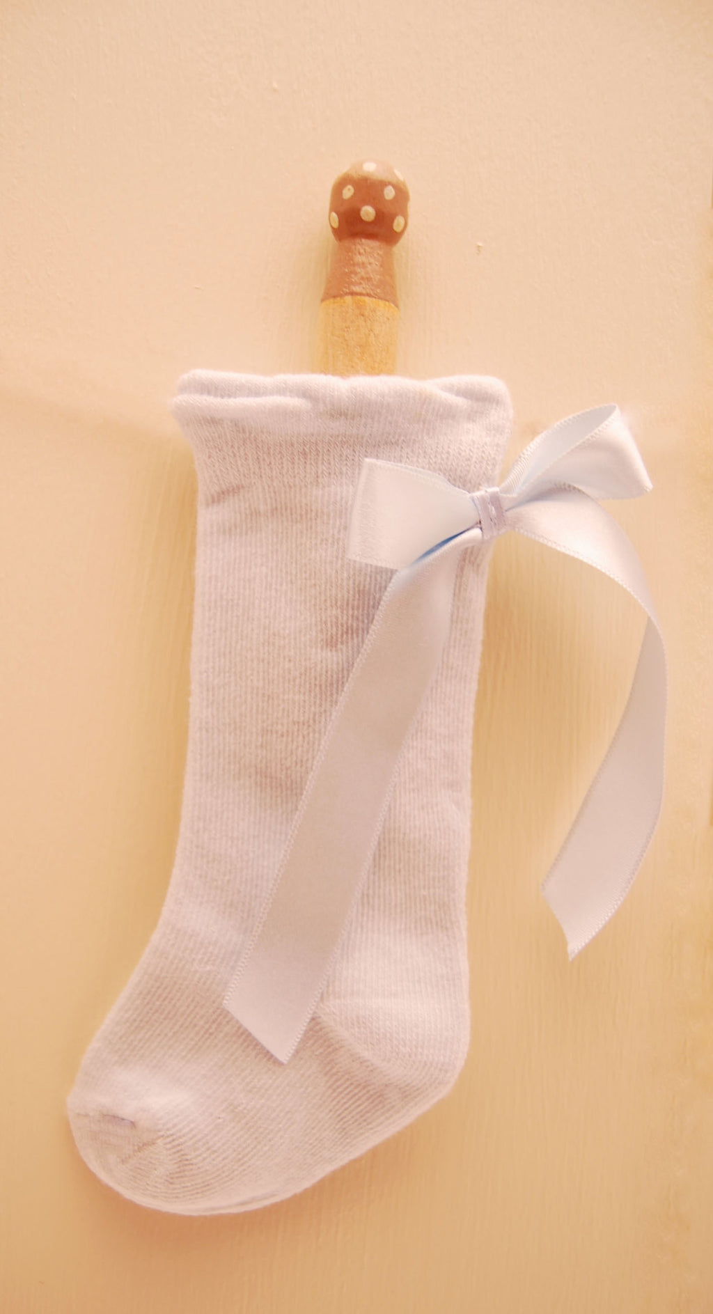 Ribbon Socks Blue