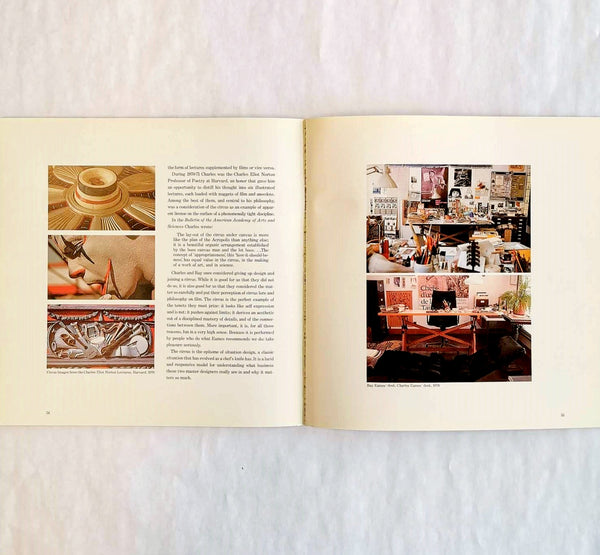 inside view of Original Vintage Charles Eames 'Connections: The Work of Charles and Ray Eames',1977