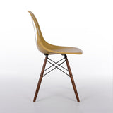 side view of  Ochre Light Herman Miller Vintage Original Eames DSW Side Shell Chair