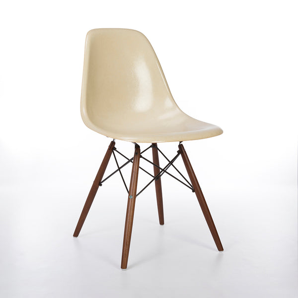 White Herman Miller Original Vintage Eames DSW Side Shell Chair