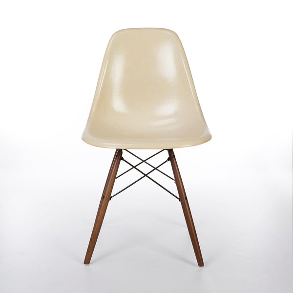 Front image of Parchment Eames DSW Dining Side Chair