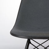Grey Pair (2) Herman Miller Original Eames Upholstered Black DSW Side Shell Chairs
