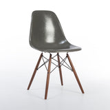 front side view of Elephant Grey Herman Miller Original Vintage Eames DSW Dining Chair