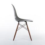 side view of Elephant Grey Herman Miller Original Vintage Eames DSW Dining Chair