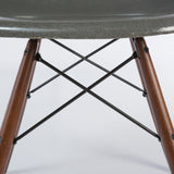 closed up view of Elephant Grey Herman Miller Original Vintage Eames DSW Dining Chair