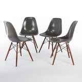 front side view of Elephant Grey Set (4) Herman Miller Original Vintage Eames DSW Dining Chair