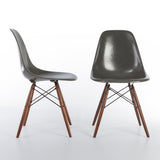 Elephant Grey Pair (2) Herman Miller Vintage Eames DSW Side Shell Chairs