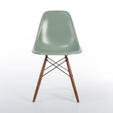 Front view of Seafoam Herman Miller Vintage Eames DSW Side Shell Chair
