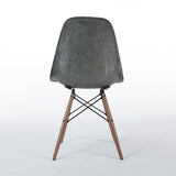 Back view of Elephant Grey Pair Herman Miller Original Eames DSW Dining Side Shell Chair