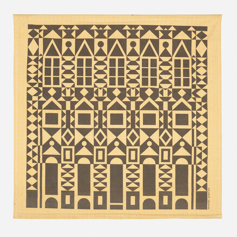Front view of  Alexander Girard Original Facade Environmental Enrichment Panel
