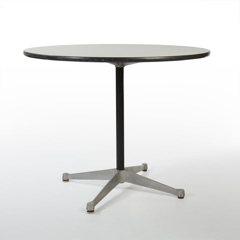White Herman Miller Original Vintage Eames Round ET108 Contract Table