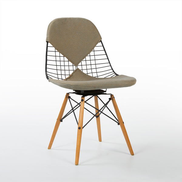 Front angled view of Eames PKW-2 Swivel Dining Chair
