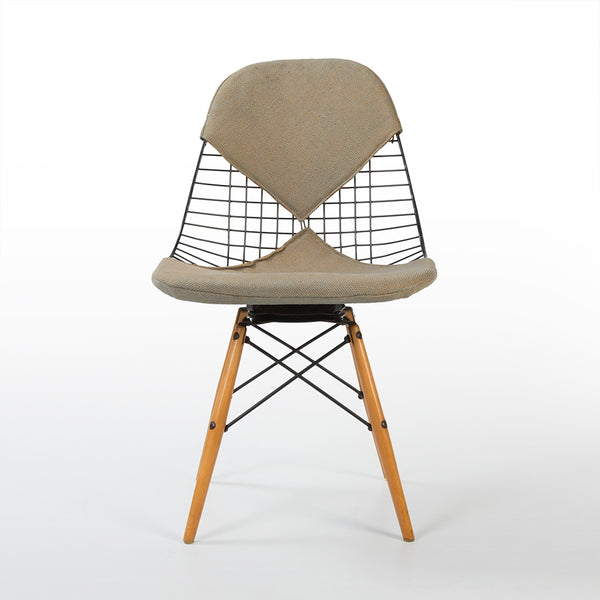 Front view of Eames PKW-2 Swivel Dining Chair