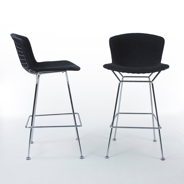 Image of pair of Bertoia 428 Barstools, one from right, one from front