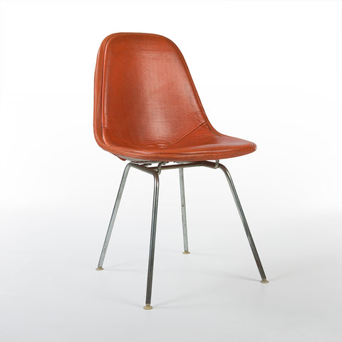 Orange Herman Miller Vintage Original Eames DKX Dining Wire Side Chair