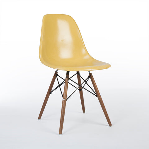 Ochre Herman Miller Vintage Original Eames DSW Side Shell Chair