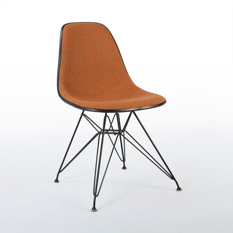 Orange Marmalade And White Herman Miller Eames Original DSR Side Shell Chair