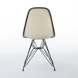 Back view of Speckled Orange And White Herman Miller Eames Original DSR Side Shell Chair