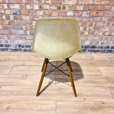 Back view of Parchment Herman Miller Eames Original DSW Side Shell Chair