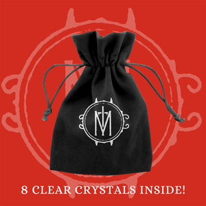 Crystal Set in Velour Pouch