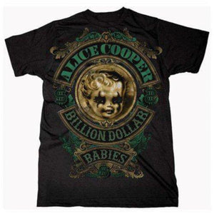 Alice Cooper Unisex Tee: Billion Dollar Baby Crest