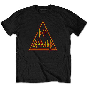 Def Leppard Unisex Tee: Classic Triangle