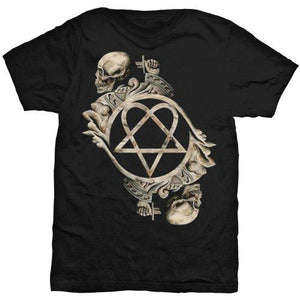 HIM Unisex Tee: Bone Sculpture (Back Print)