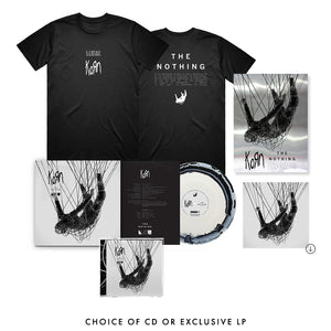 The Nothing: T-Shirt, Mirrorboard Poster + Music Bundle