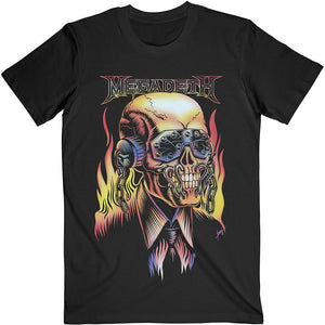Megadeth Unisex Tee: Flaming Vic