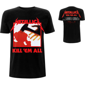 Metallica Unisex Tee: Kill 'Em All Tracks (Back Print)