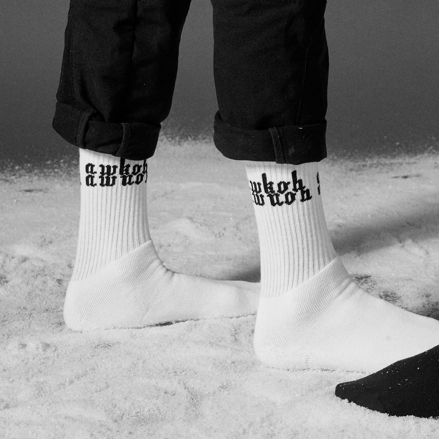 AWKOHAWNOH Socks (White)