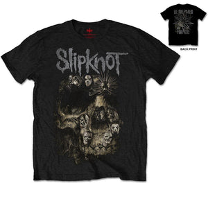 Slipknot Unisex Tee: Skull Group (Back Print)