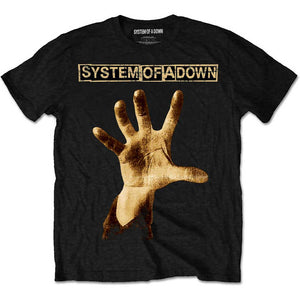 System Of A Down Unisex Tee: Hand