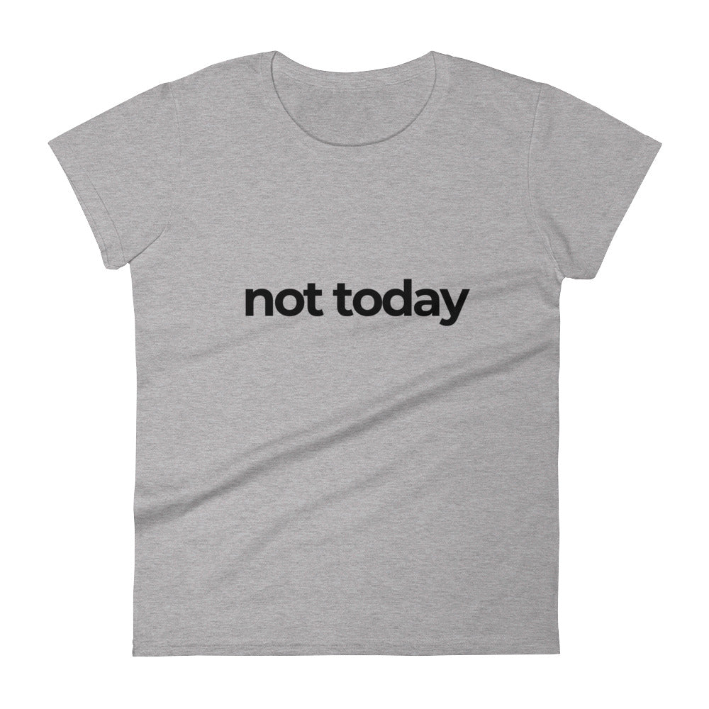 'Not Today' Cuffed T-Shirt - Kitsch Kandy Clothing