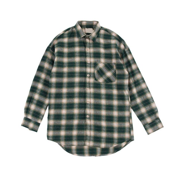 Checkered Shirt, Green - Kitsch Kandy Clothing