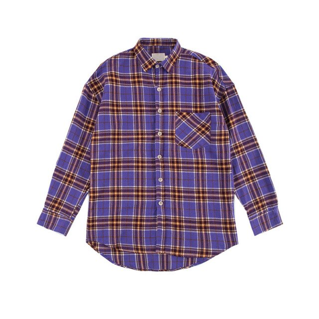 Checkered Shirt, Purple | Kitsch Kandy Clothing - Tomboy Styles
