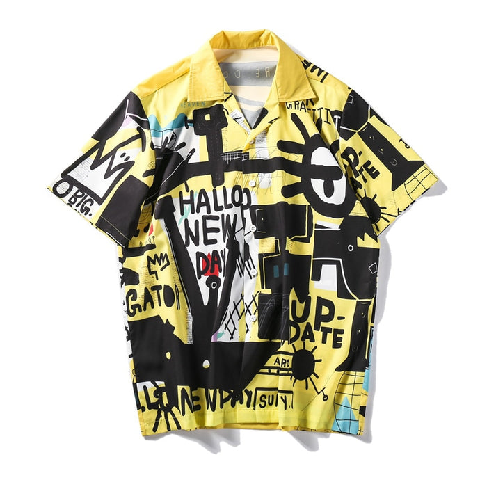 Graffiti Retro Printed Shirt | Kitsch Kandy Clothing - Tomboy Styles