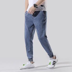 Denim Joggers, Blue | Kitsch Kandy Clothing - Tomboy Styles