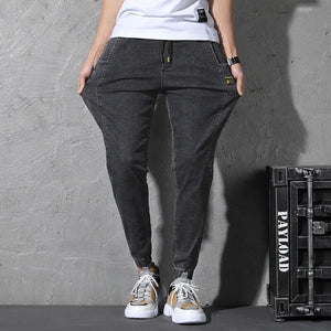Denim Joggers, Black | Kitsch Kandy Clothing - Tomboy Styles