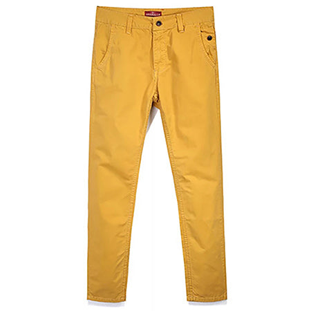 MARY Cotton Chinos, Mustard | Kitsch Kandy Clothing - Tomboy Styles