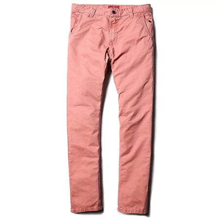 MARY Cotton Chinos, Salmon - Kitsch Kandy Clothing