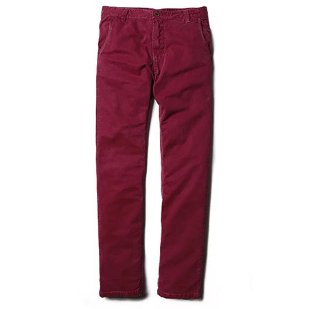 MARY Cotton Chinos, Burgundy | Kitsch Kandy Clothing - Tomboy Styles