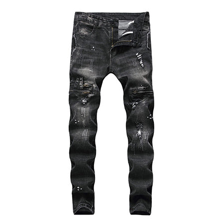 RICCO Slim Fit Jeans, Faded Black | Kitsch Kandy Clothing - Tomboy Styles