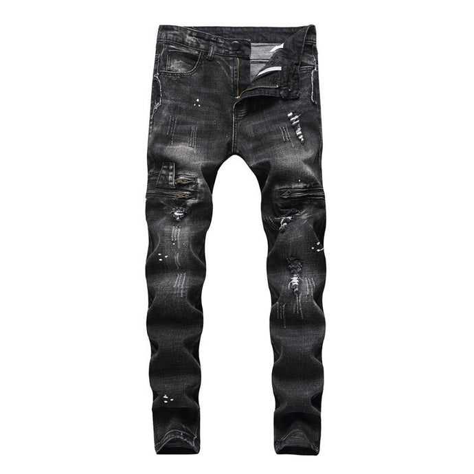 RICCO Slim Fit Jeans, Faded Black - Kitsch Kandy - Tomboy Styles