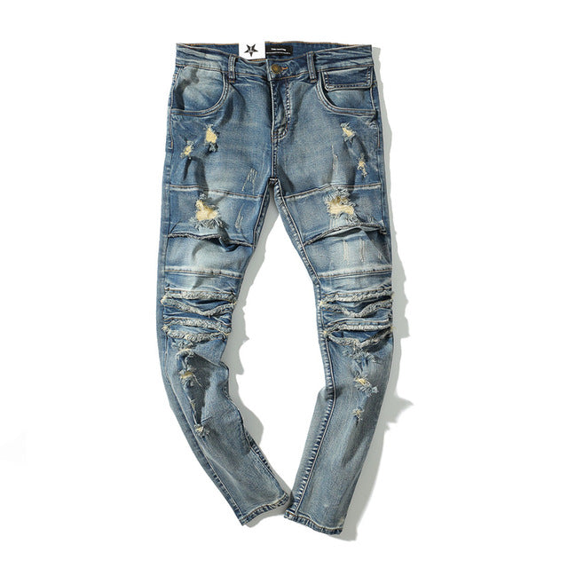 ASSCOR Ripped Jeans - Kitsch Kandy Clothing