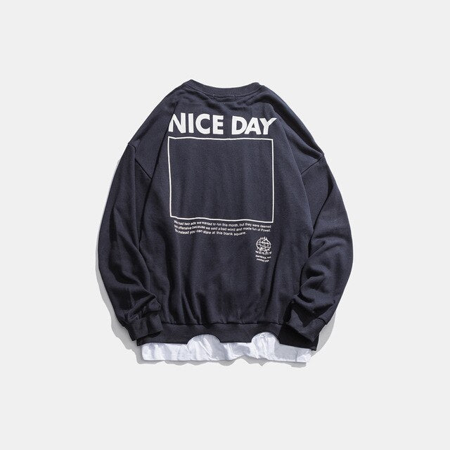 NICE DAY Sweatshirt | Kitsch Kandy Clothing - Tomboy Styles