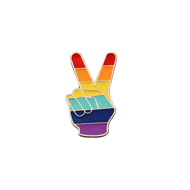 RAINBOW PEACE Pin | Kitsch Kandy Clothing - Tomboy Styles